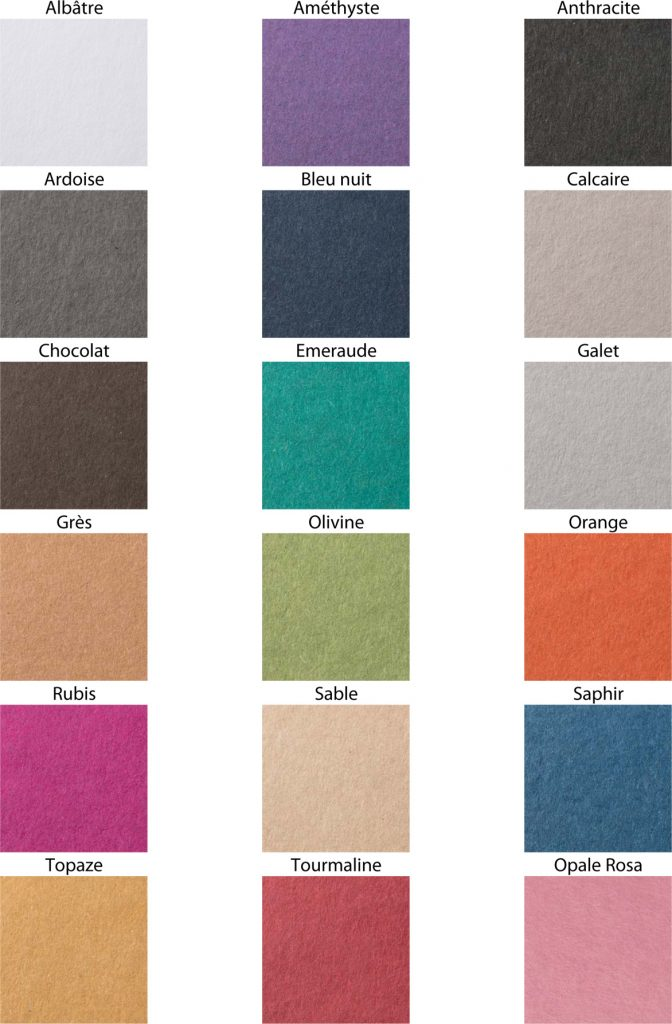 Color chart Les Naturals